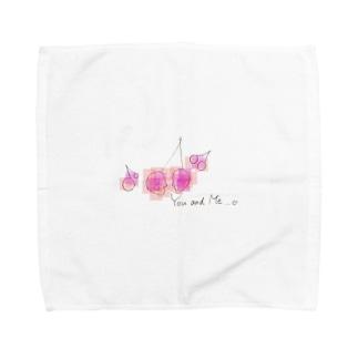 aska_mmのあなたとわたし、さくらんぼ Towel handkerchiefs