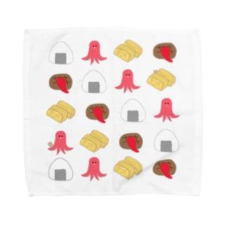 お弁当のおかずくん Towel handkerchiefs