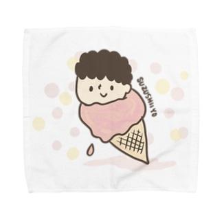 つめたいアイスのチャーリー Towel handkerchiefs