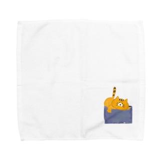おこらないネコ はなたん Towel handkerchiefs