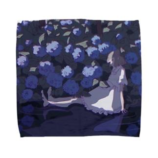 もえこの紫陽花 Towel handkerchiefs