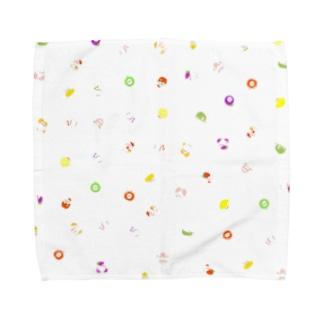 フルーちゅん柄 Towel handkerchiefs
