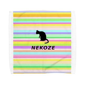 ニャムのアトリエのNEKOZEカラフル2 Towel handkerchiefs