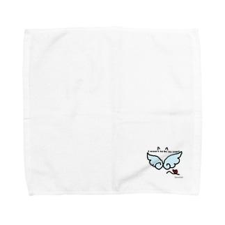 天使になりたい黒猫 Towel handkerchiefs