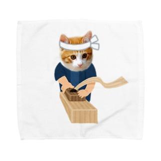 o_tan建具屋になる。 Towel handkerchiefs