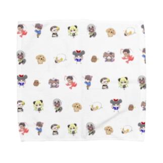 神々の系譜いっぱい Towel handkerchiefs