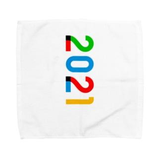 marikiroの2021_西暦 Towel handkerchiefs