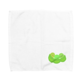 お豆さん兄弟 Towel handkerchiefs
