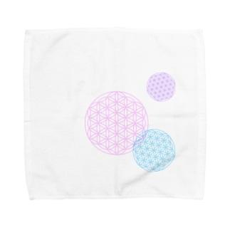 フラワーオブライフ Towel handkerchiefs