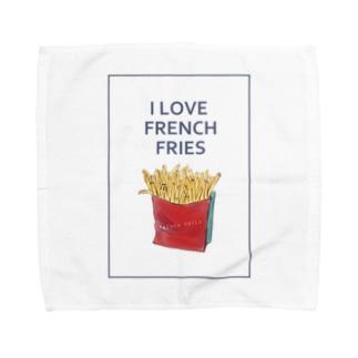 I LOVE FRENCH FRIES Towel handkerchiefs