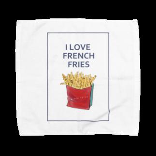 NATSUYA TAKASAKIのI LOVE FRENCH FRIES Towel handkerchiefs