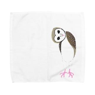 メンフクロウんんん Towel handkerchiefs