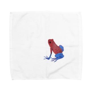 イチゴヤドクガエルん Towel handkerchiefs