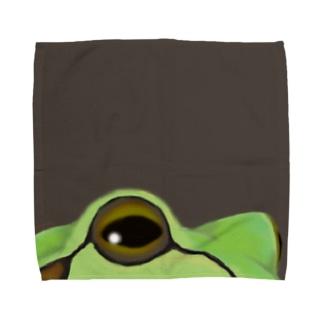 あっぷなアマガエルさん Towel handkerchiefs