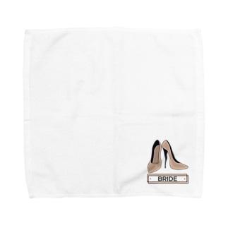 ペアTシャツ屋のシバヤさんのペア(BRIDE)ヒール_ベージュ Towel handkerchiefs
