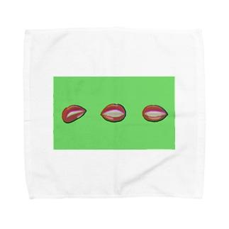 リップ(グリーン) Towel Handkerchief
