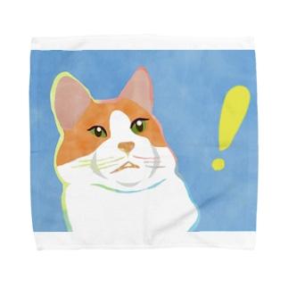驚くねこ Towel Handkerchief