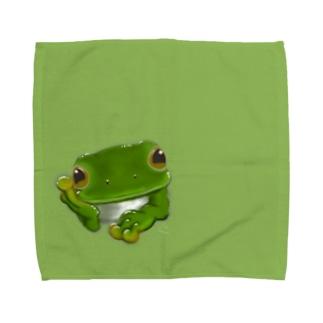 ほおづえシュレーゲルさん Towel handkerchiefs