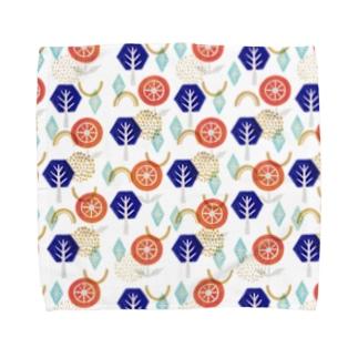花とか木とか結晶とか幾何学とか Towel handkerchiefs