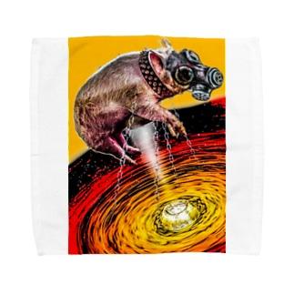 ガスマスク豚 Towel handkerchiefs