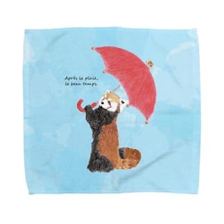 雨のち晴れレッサーパンダ Towel handkerchiefs