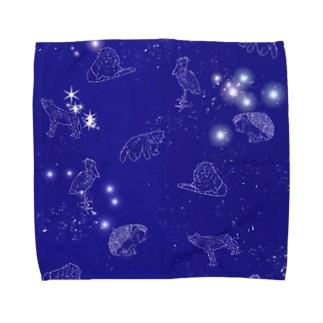 動物の星空プラネタリウム Towel handkerchiefs