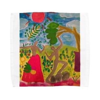 アースに生きる Towel handkerchiefs