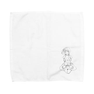 Yatamame ブランド -パンダっ子- Towel Handkerchief