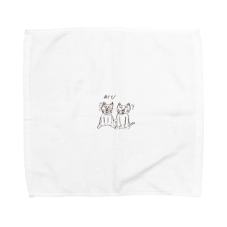 ネコの日常(あくび) Towel handkerchiefs