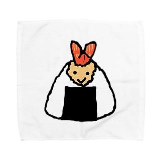 笑顔のおむすび(天むす) Towel handkerchiefs