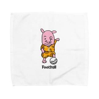 ピンクの犬〜football Towel handkerchiefs