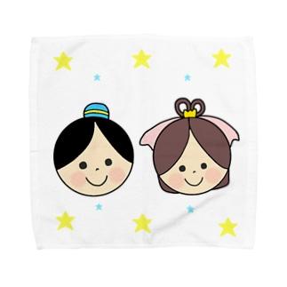 Yuuオリジナルイラスト27 彦星と織姫 Towel handkerchiefs