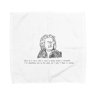 バッハの名言 Towel Handkerchief