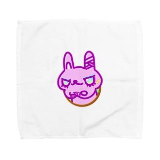 怪我するうさぎさん Towel handkerchiefs