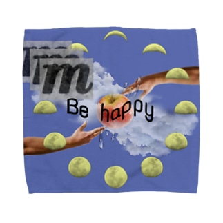 Be happy Towel handkerchiefs