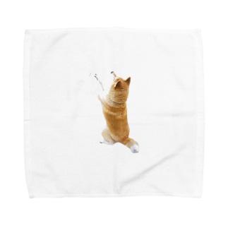 そこをなんとか!な太郎【柴犬】 Towel handkerchiefs