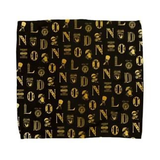 世界のまち - イギリス、ロンドン (ゴールド) Towel handkerchiefs