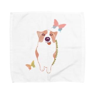 コーギー犬のナナVOL.3 Towel Handkerchief