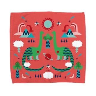 riya のDINOSAUR タオル Towel handkerchiefs
