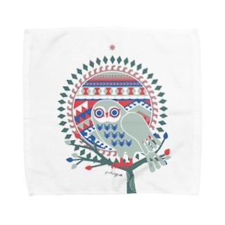 riya のOWL タオル Towel handkerchiefs