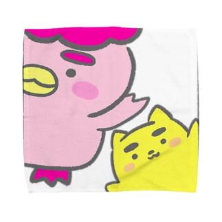 ぽちゃ✖️まゆ太 Towel handkerchiefs
