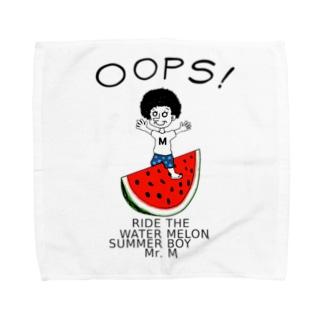 スイカに乗った村上さん。 Towel Handkerchief