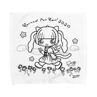 ようなぴにゅーいやー!2020モノクロ Towel handkerchiefs
