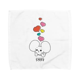 シラタマハートケース Towel handkerchiefs