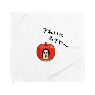 いらっしゃい母の店の母りんごタオルハンカチ Towel handkerchiefs