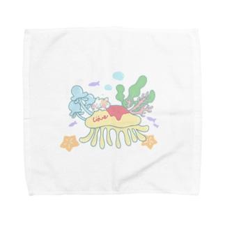 クラゲオムライスにのって Towel handkerchiefs