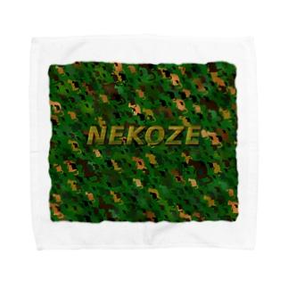 NEKOZE迷彩ロゴ入り Towel handkerchiefs