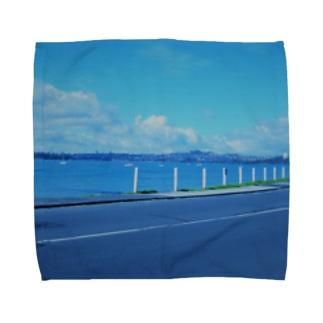 ニュージーランドの海沿い Towel handkerchiefs
