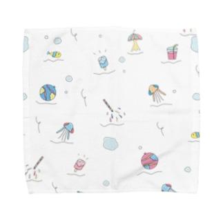 ぷくぷくぱすてるハンカチ Towel handkerchiefs