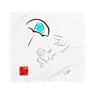 京都の魔雑貨堂のバカンス Towel handkerchiefs